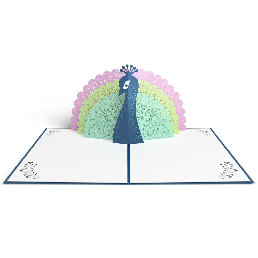Peacock Pop Up Greeting Cards Cute Birthday Cards Unicorn Birthday Cards