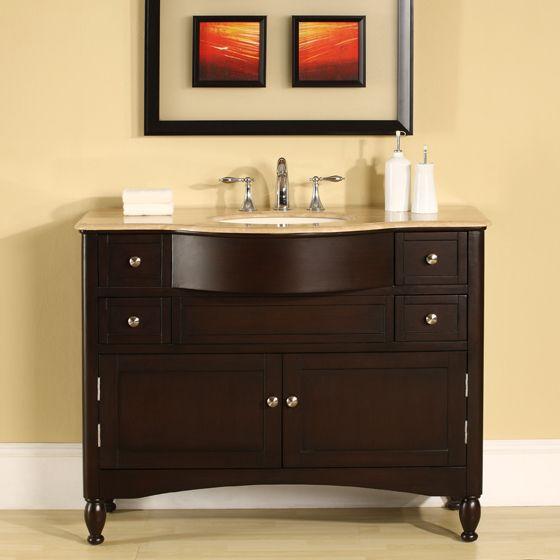 Tulio Single 45 Inch Transitional Bathroom Vanity With