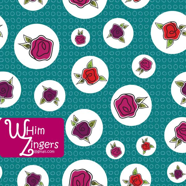 A digital repeat pattern for seamless tiling. #repeatpattern #seamlesspattern #textiledesign #surfacepatterndesign #vectorpatterns #homedecor #apparel #print #interiordesign #decor #repeat #pattern #repeat #repeating #tile #scrapbooking #wallpaper #fabric #texture #background #whimzingers #flowers #roses #floral #red #pink #purple #pink #green #white #circles #polka #dots #polkadots