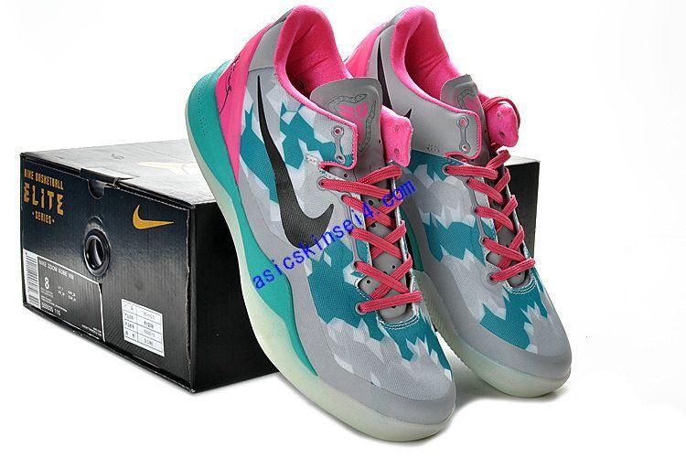 Kobe Shoes 2013 Nike Elite 8 South Beach Wolf Grey Pink Cherry Tiffany Blue  555035 110 673cfb4ff846