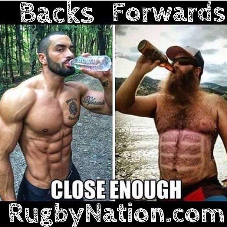 Rugbynation Com On Instagram Rugby Backs Vs Forwards Tag Your Teammates Rugby Memes Rugby Quotes Funny Pictures