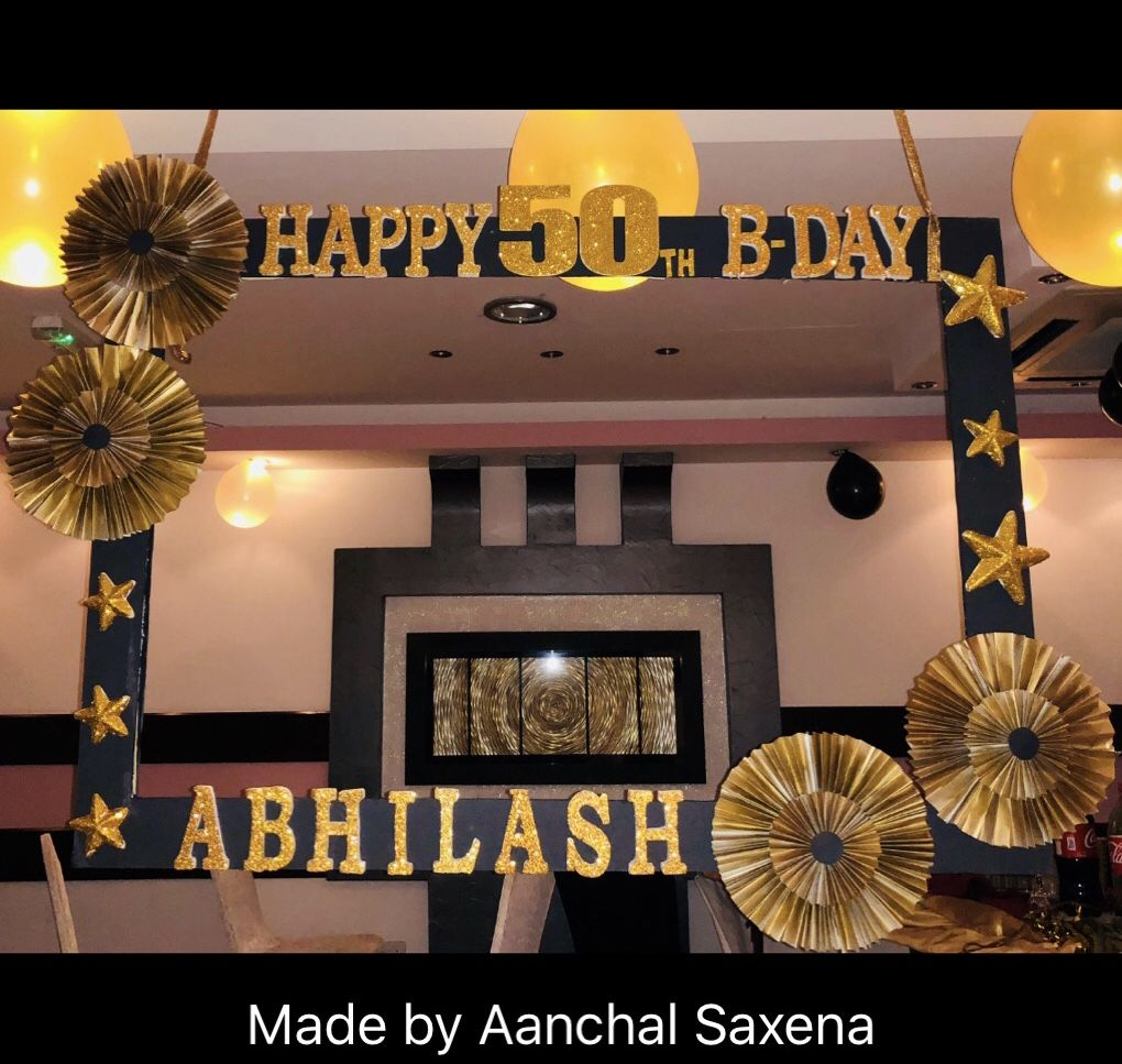Black Gold Theme Photobooth Frame By Aanchal Saxena Using Paper