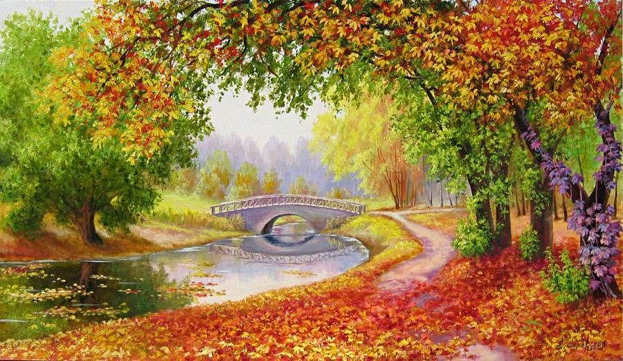 levkonoe   Елена Самарская. Осень в парке   Пейзажи ...