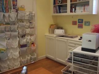 Shoe organizers to sort craft odds and ends