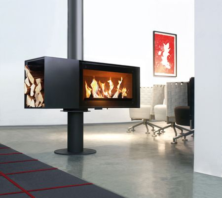sehr moderner kamin sogar um 360 grad drehbar fireplace firepit