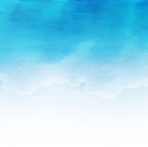 Fundo Azul Aquarela Wreath Pinterest