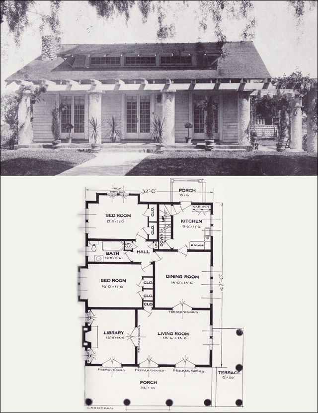 The Cardenas 1920s Bungalow 1923 Craftsman Style From The Standard Homes Company House P Craftsman Bungalow House Plans Bungalow House Plans House Plans