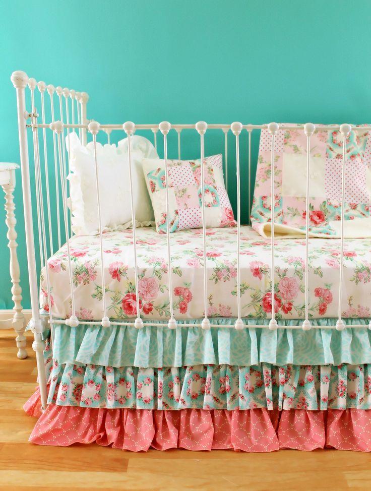 Antique Primrose Crib Bedding Set Baby Girl Crib Bedding