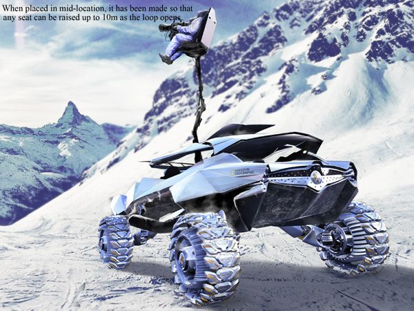 ZAIRE all-terrain vehicle designed for National Geographic's photography team.