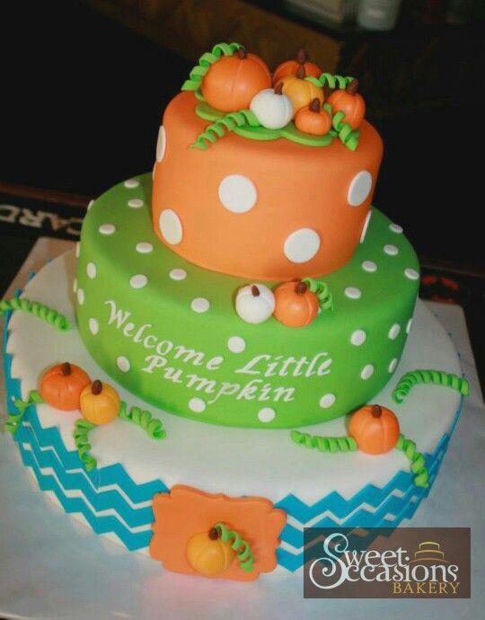 Fall Harvest Pumpkin Themed Baby Shower Cake Https M Facebook