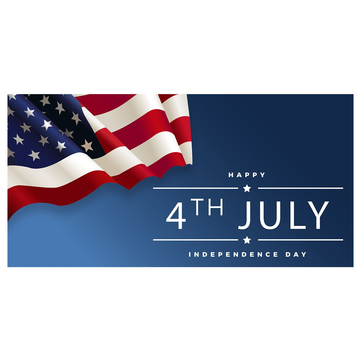 4Th Of July Sale Advertising Printing Vinyl Banner Sign With Grommets