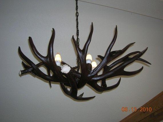 Mule deer antler chandelier by outbackantlerchandel on etsy 60000 items similar to mule deer antler chandelier on etsy aloadofball Gallery