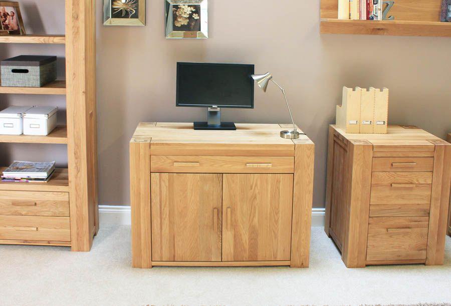 atlas oak hidden home office. Oak Gt; Atlas Computer Desks Hidden Home Office Desk Pinterest