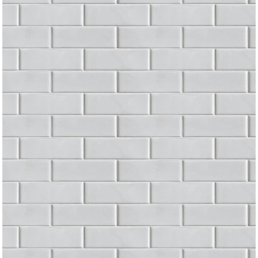 Revamp Your Space With A Clean Classic Look Using This Smooth Subway Tile Peel And Stick Wallpaper From In 2021 Peel And Stick Wallpaper White Subway Tile Subway Tile