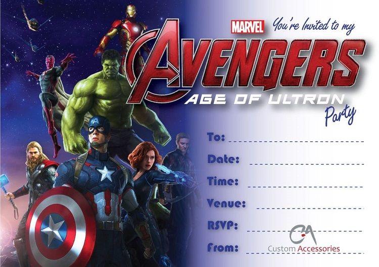Blank Avengers Birthday Invitations Invitation Ideas