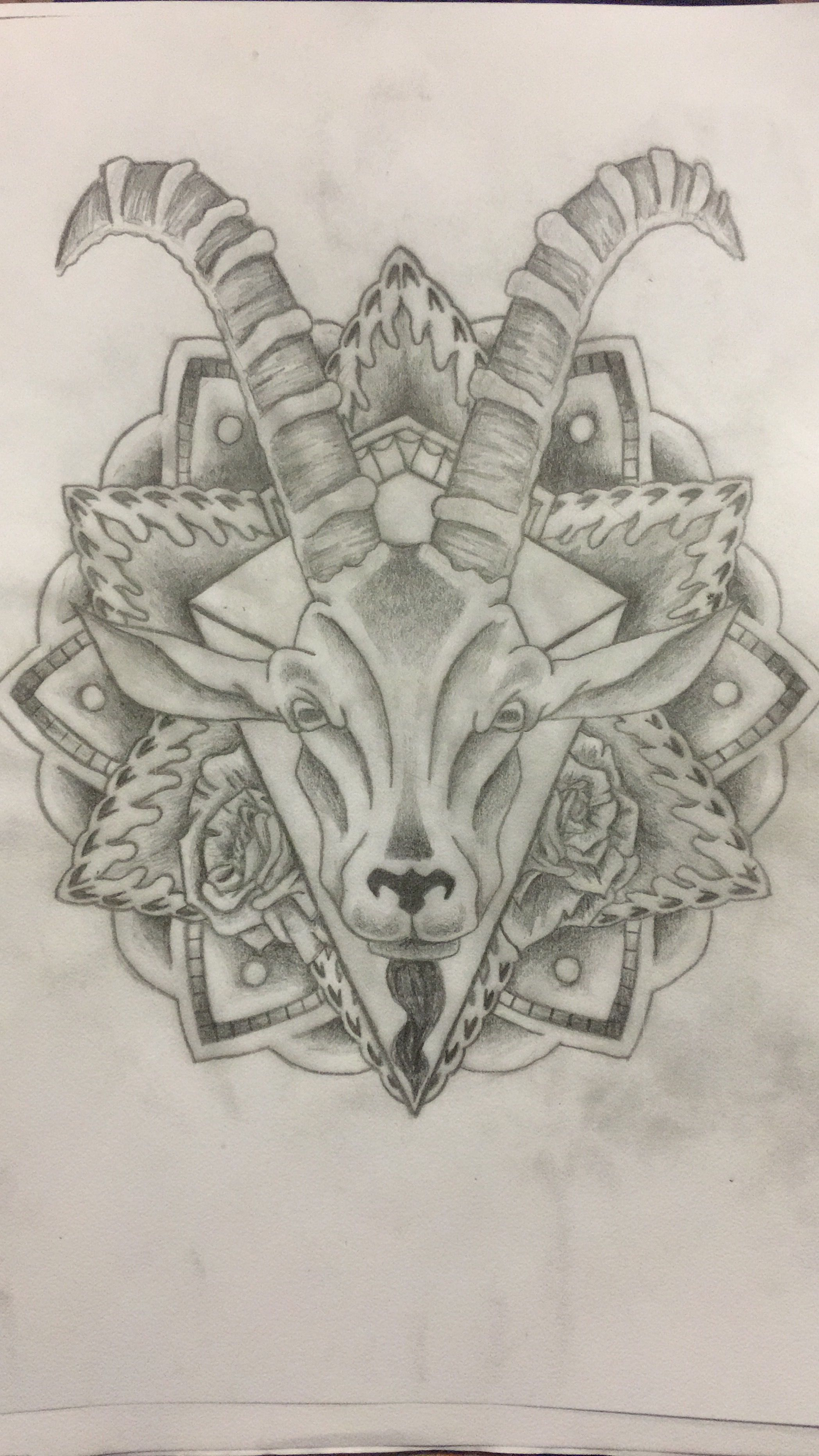 Tattoo Steenbok Rozen Mandala My Work Tatoeage