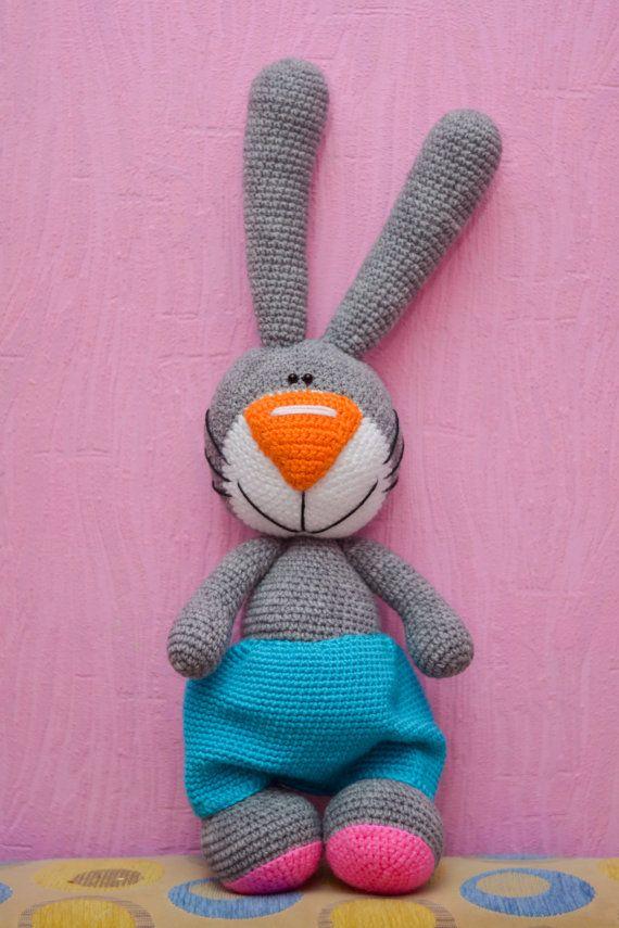Crochet PATTERN Easter Bunny, häkeln, Häkelanleitung Hase gehäkelt ...