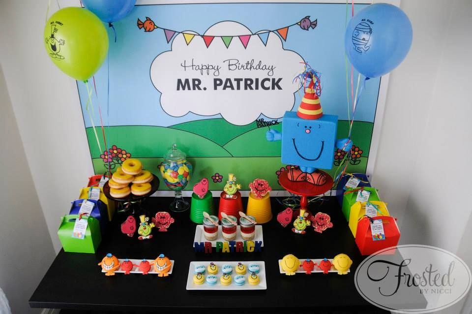 Little Big Company The Blog Mr Men Themed Birthday For Mr Patrick By Frosted By Nicci Mens Birthday Party Birthday Birthday Themes For Boys