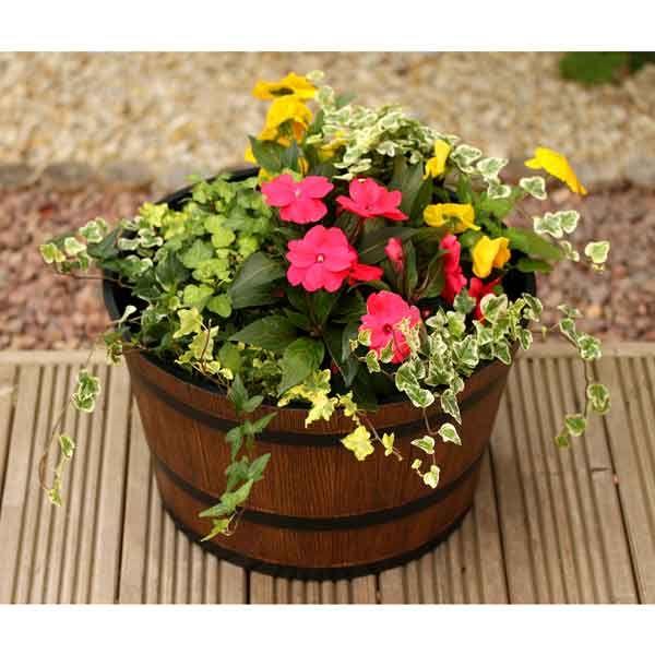 Quot Whisky Barrel Quot Planter Google Search Garden Planters