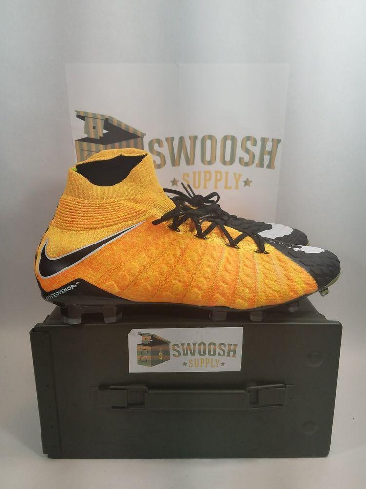 more photos d2446 844ea Nike Hypervenom Phantom III 3 DF FG Laser Orange Soccer Cleats 860643-801 Sz  13