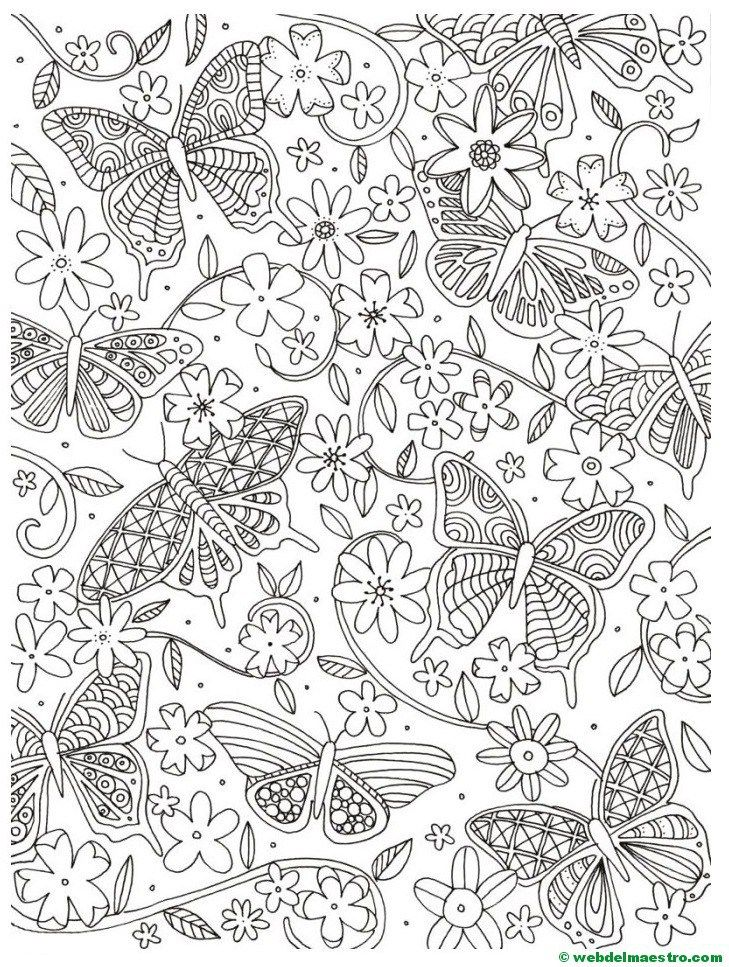 Dibujos antiestrés | Adult coloring, Hobbit door and Mandala