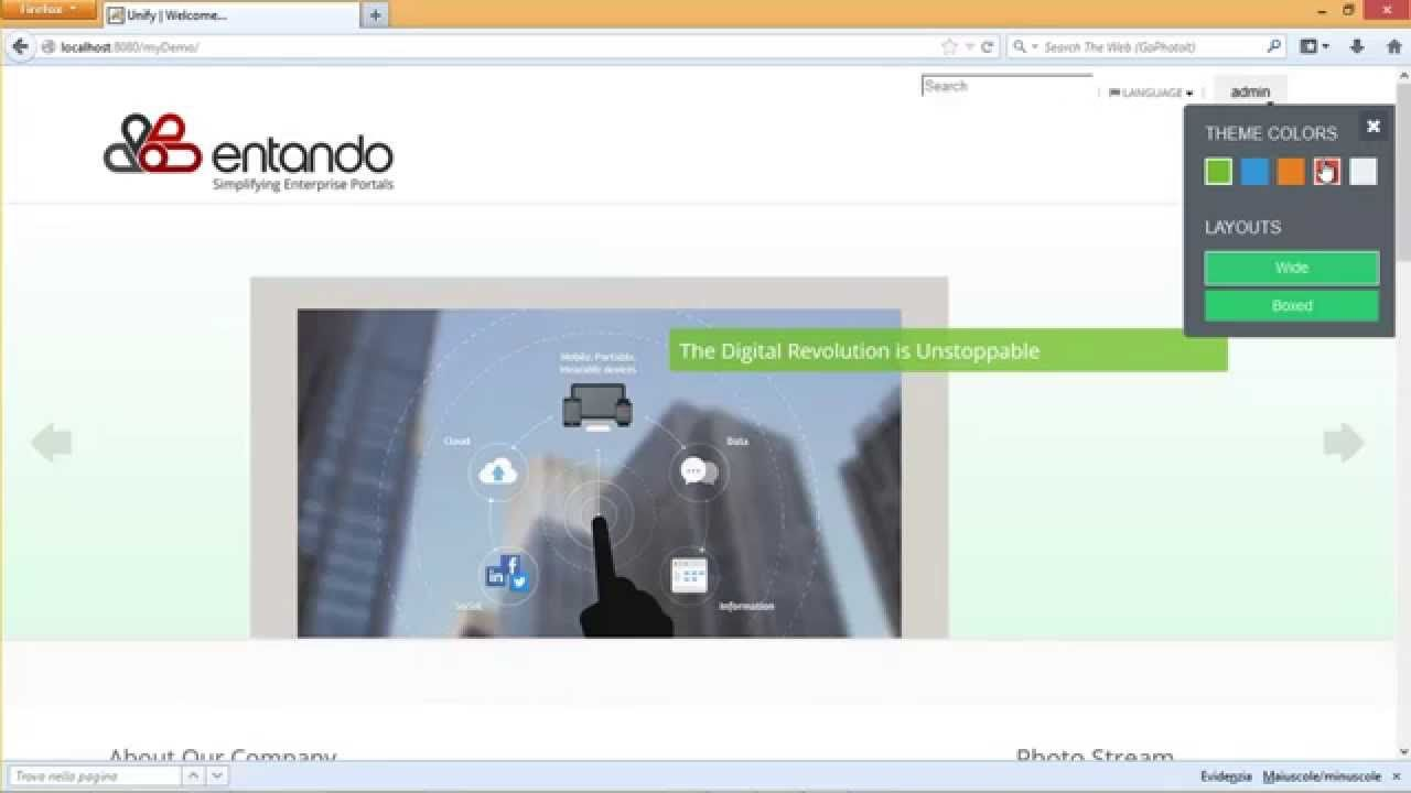 Entando uses #Bootstrap for its front-end, allowing you to apply a ...