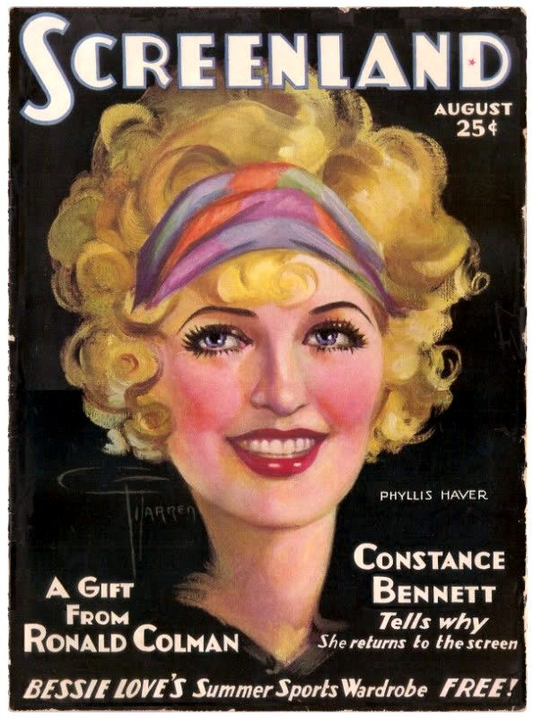 """Phyllis Haver-""""Screen Land August 1928"""