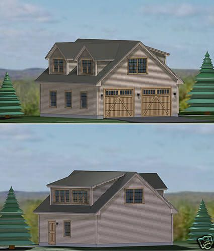 2 Car Garage Apartment Plan Number 94343 With 1 Bed 1: Garage Plans Blueprints 28 Ft X 28ft, With Dormers