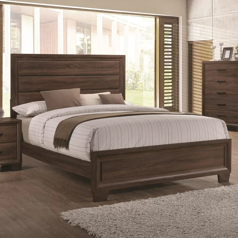 Casa Standard Bed Panel Bed Furniture Upholstered Panel Bed