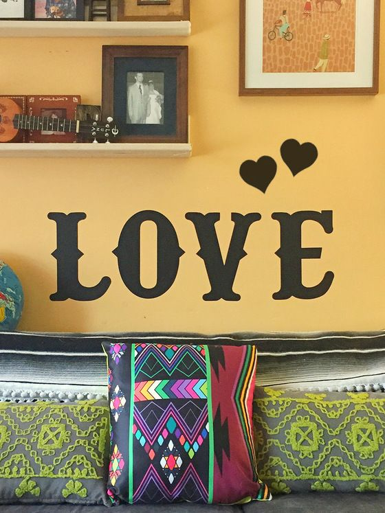LOVE Chalkboard Removable Wall Decal Set   Chalkboard walls, Wall ...