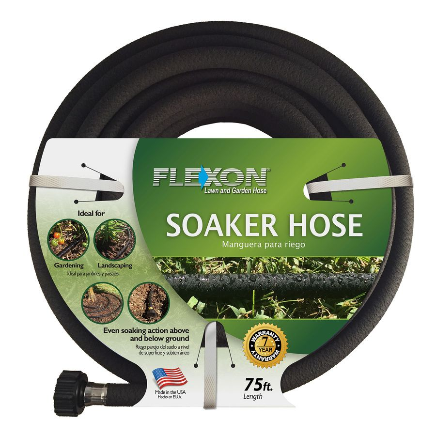 Flexon 1 2 In X 75 Ft Black Soaker Hose At Lowes Com Soaker Hose