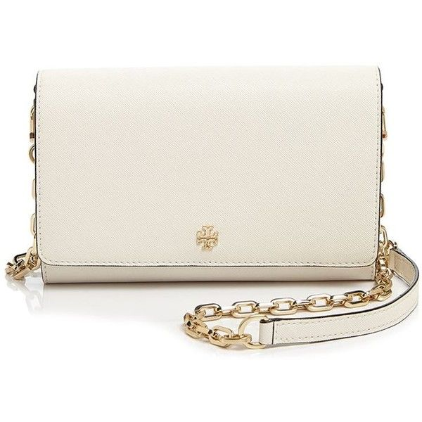 Tory Burch Crossbody - Robinson Saffiano Wallet on a Chain ( 300) ❤ liked  on Polyvore featuring bags fdce342310791