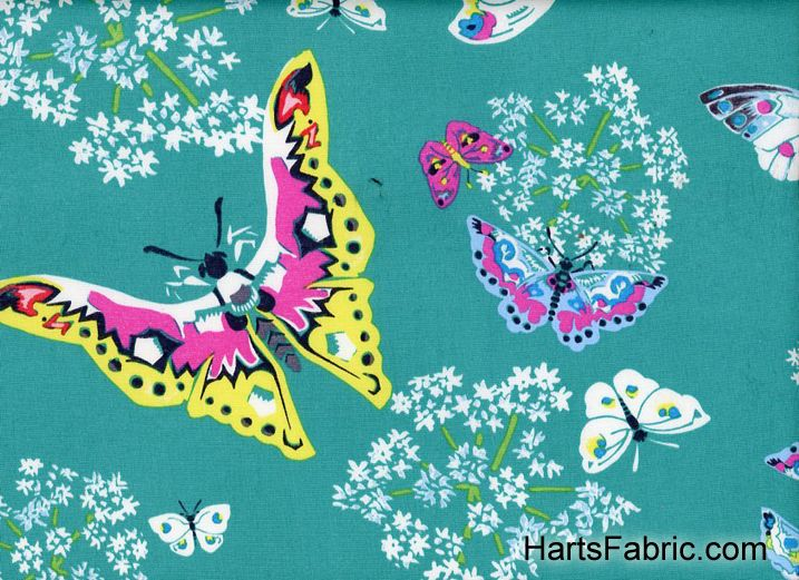 Amy Butler Alchemy Butterflies Topaz
