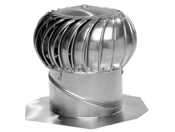 Turbine Vents Can Replace The Hot Air In Your Attic In Minutes Mother Nature Blows Across The Fins In The Roof Turbine Ventilation System Heating And Cooling