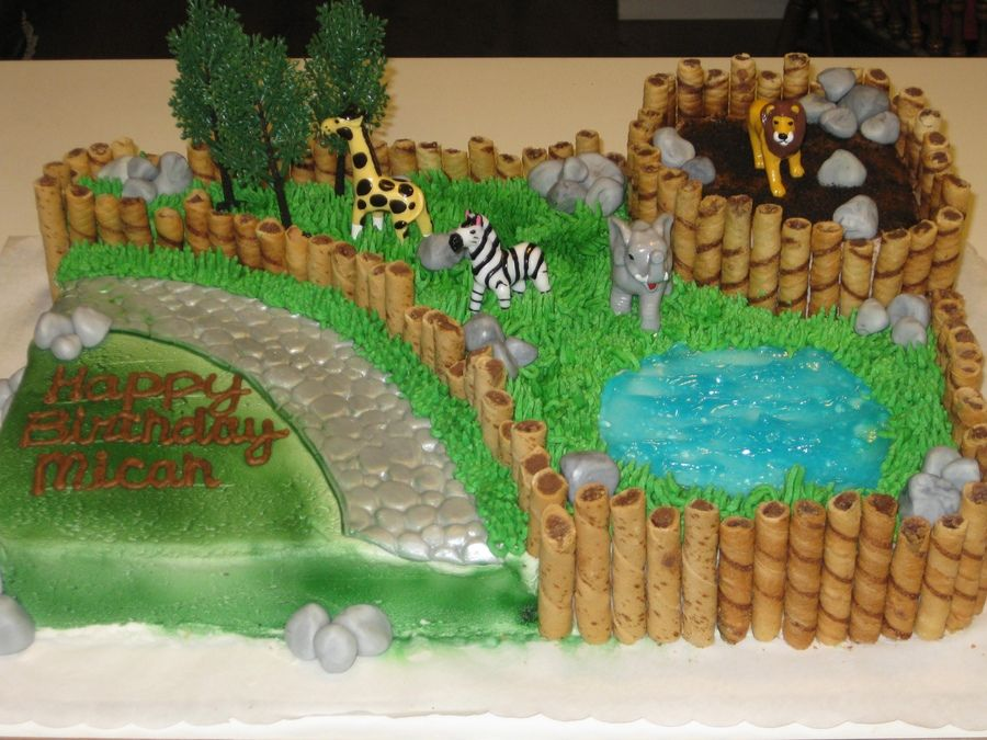 Zoo Cake For A Childrens Birthday Party Nate Zoo Birthday In 2018