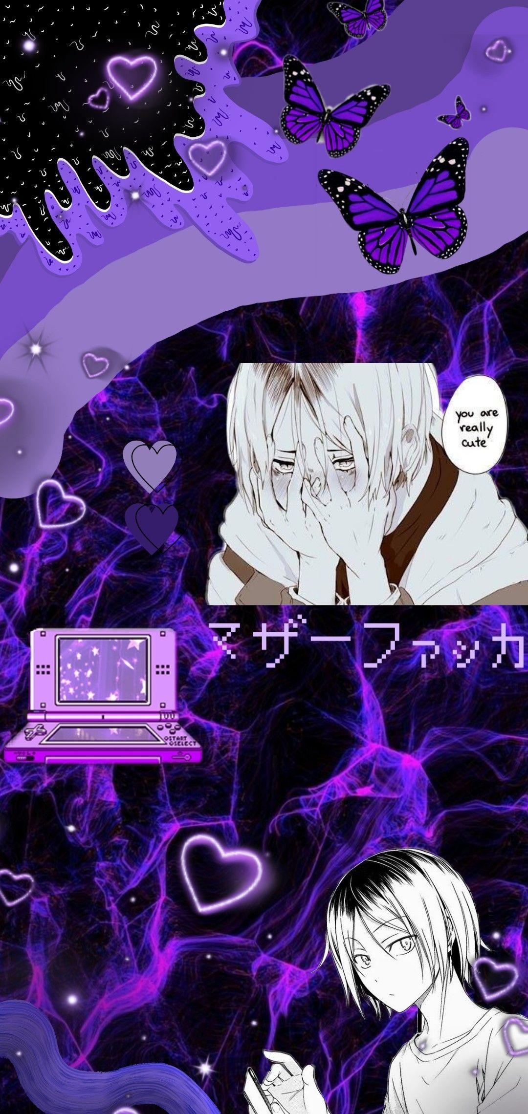 Kenma Kozume Purple Anime Purple Anime Wallpaper Haikyuu Wallpaper Cute anime wallpaper dark purple anime