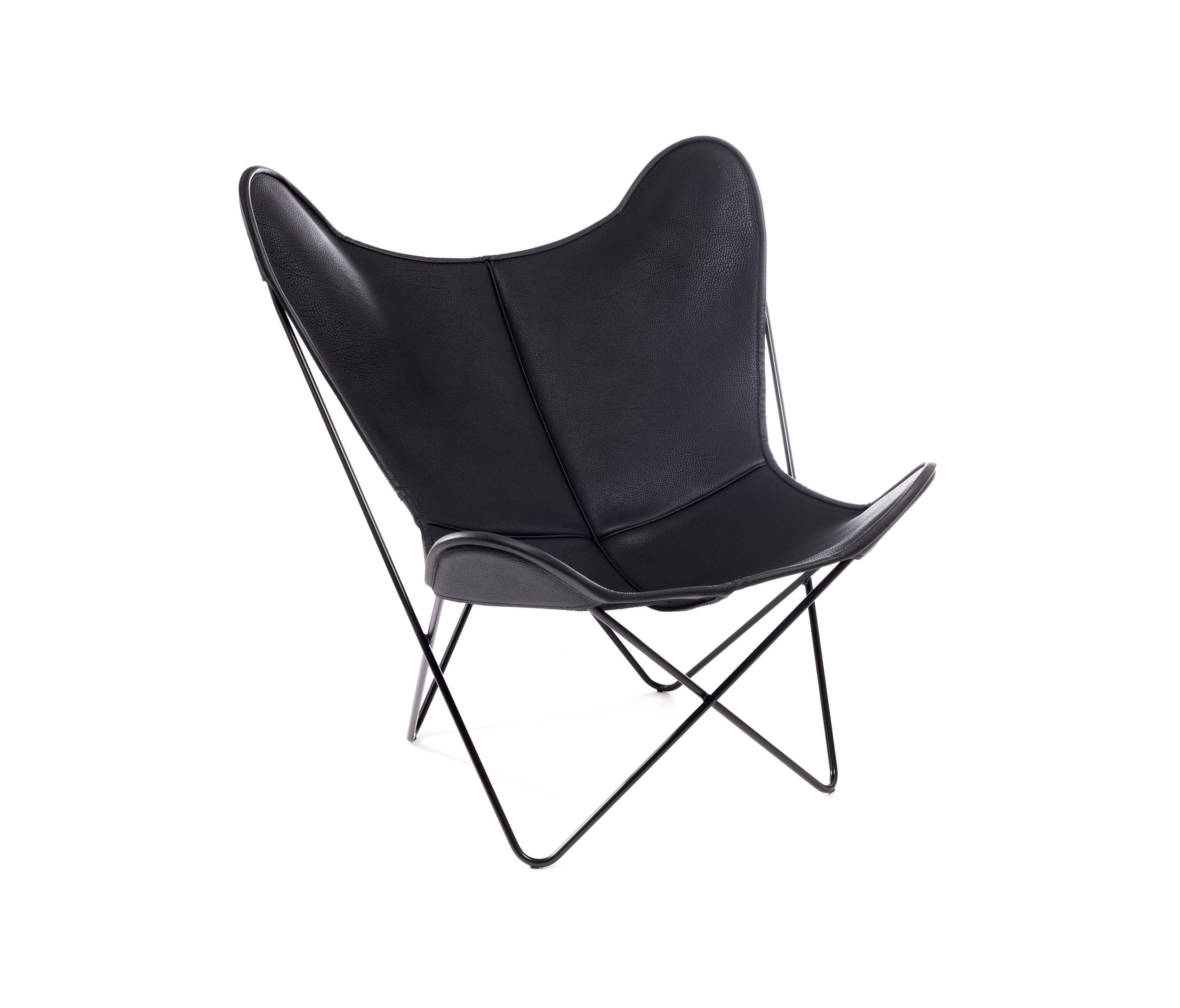 Hardoy Butterfly Chair Neck Leder Schwarz By Manufakturplus | Lounge Chairs