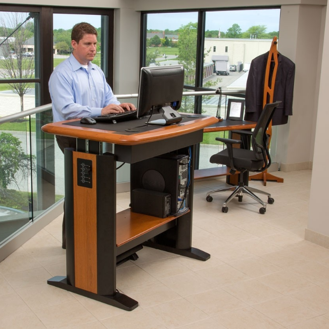 Standing Desk Workstation Costco Stand Up Desk Type 32 45 Amp Quot X Within Home O Standing Desk Design Office Furniture Standing Desk Diy Standing Desk