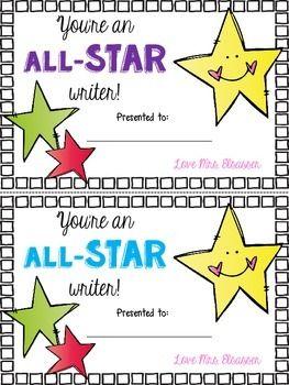 Writing award certificate certificate kindergarten writers fun writing celebration certificate yadclub Gallery