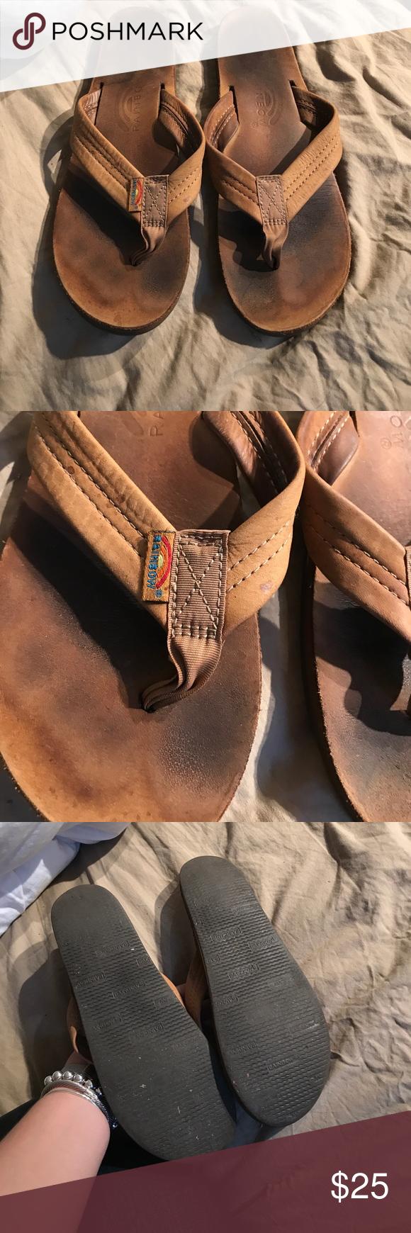 Rainbow flip flop Used condition! Most comfy flip flop ever Rainbow Shoes Sandals