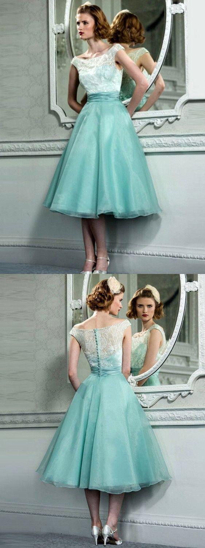 Lace beautiful homecoming dress party cheap green homecoming dress