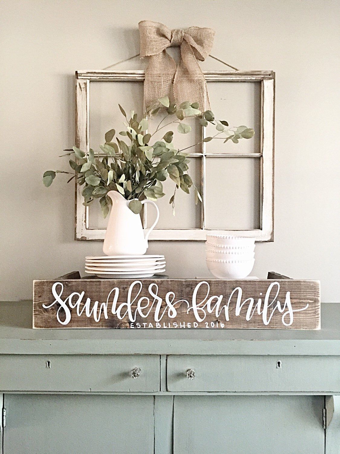 Last Name Sign Wood Family Established Sign Rustic