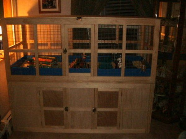 Build your own rat cage here 39 s a large wooden guinea pig for Build your own guinea pig cage