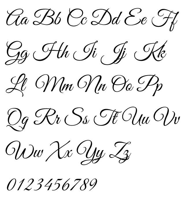 Image result for calligraphy alphabet wedding