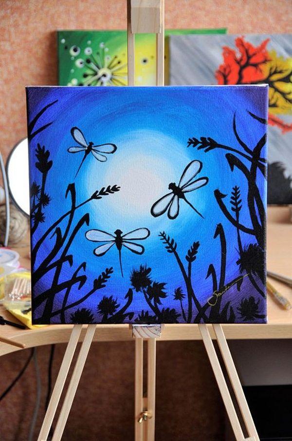 Easy Acrylic Canvas Painting Ideas Canvas Painting Diy Hand