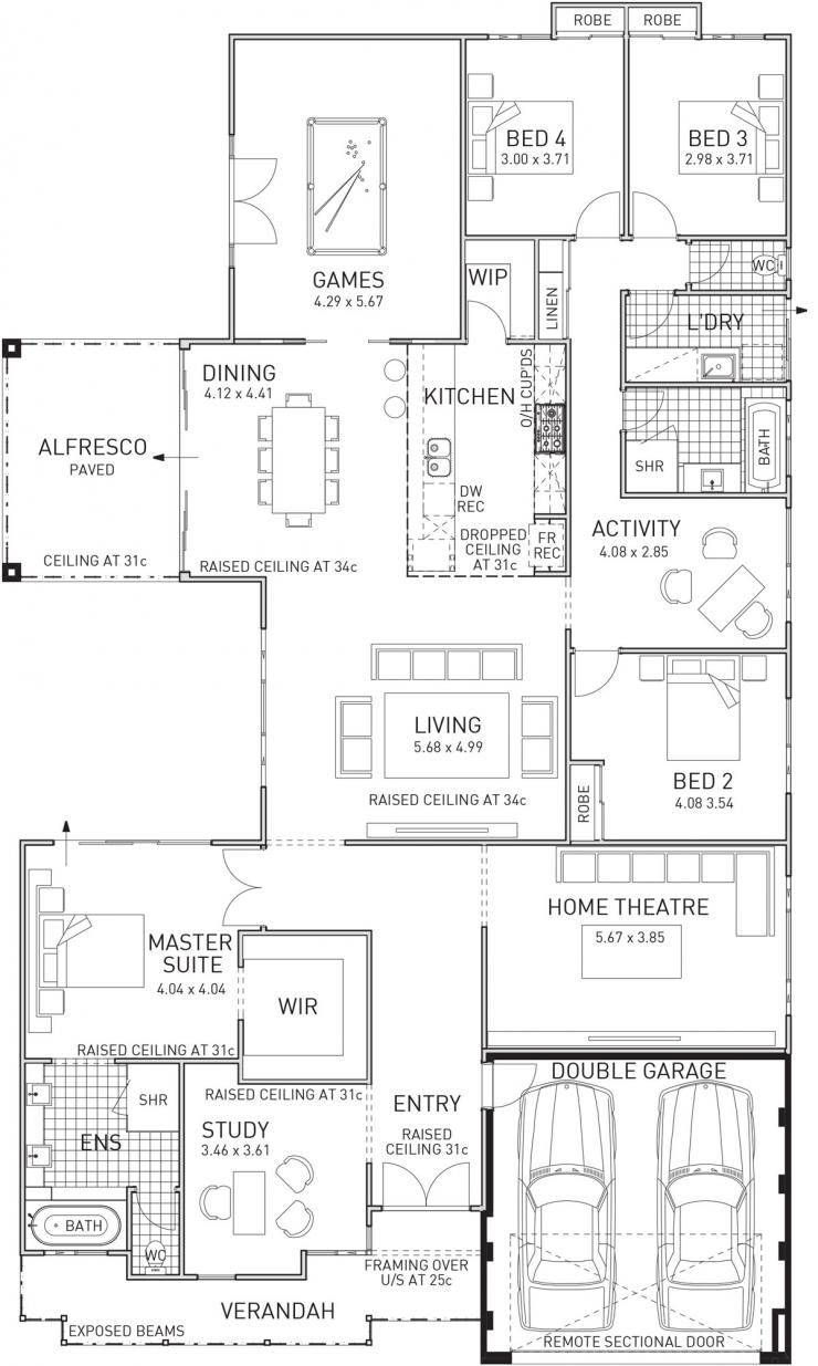 Shiraz Home Design Large Four Bedroom Family Home House Plans Home Design Floor Plans House Design