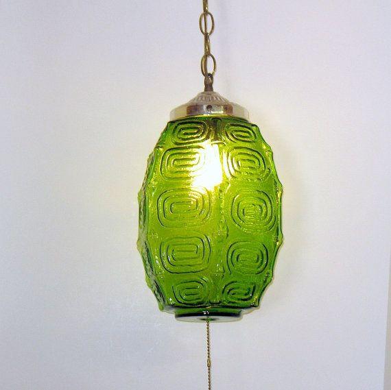 Vintage Pendant Lamp Etsy Me Likey Stuff Vintage