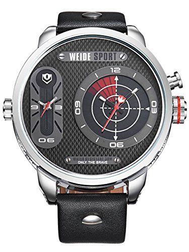 Alienwork Weide Quarzuhr Armbanduhr Xxl Oversized Uhr Multi Funktion Metall Schwarz Silber Xxl Uhren Armbanduhr Uhren Kaufen