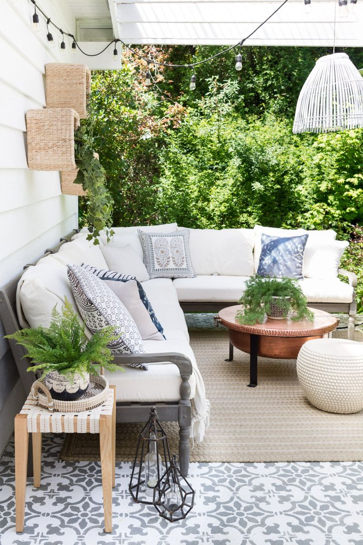outdoor diy a boho chic side table