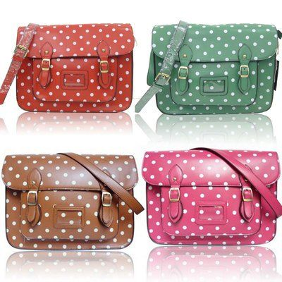 GIRLS LADIES LYDC POLKA SATCHEL HANDBAG SCHOOL BAG (PINK): Amazon ...